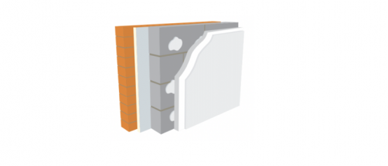 U Value Warmline EPS. Expanded Polystyrene Bonded to Plasterboard.
