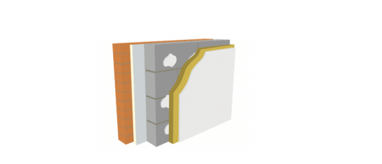 U Value Warmline PIR. Polyisocyanurate Foam Bonded to Plasterboard 82.5mm